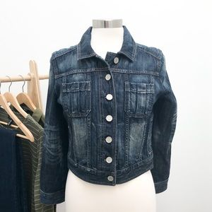 Trucker Jean Jacket Distressed by Express
